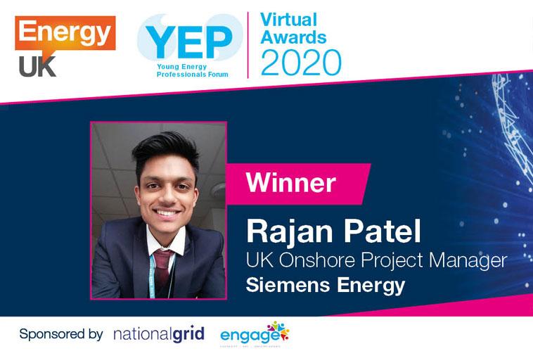 Energy UK's Young Energy Professionals Awards Winner